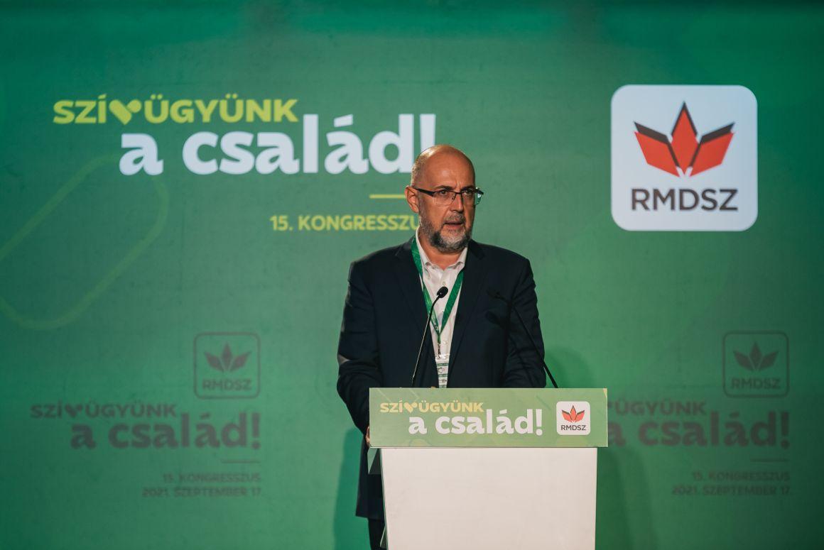 Kelemen Hunor szövetségi elnök politikai tájékoztatója az RMDSZ 15. kongresszusán