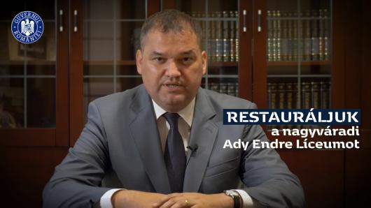 Cseke Attila nyilatkozata a nagyváradi Ady Endre Líceum restaurálásáról
