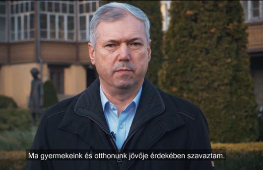 Peter Ferenc: Ma gyermekeink és otthonunk jövője érdekében szavaztam