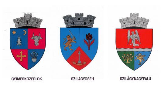 Szilágynagyfalu, Szilágycseh és Gyimesközéplok címerét hivatalosította a kormány