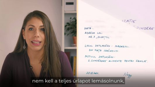 Lészai Orsolya az új egyéni felelősségvállalási nyilatkozat kitöltéséről